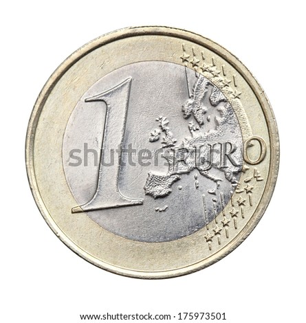1 euro isolated