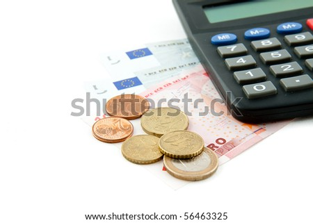 Euro  isolated on white background