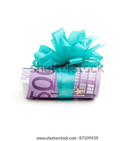 500 euro money gift - stock photo