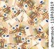 50 euro money seamless background - stock