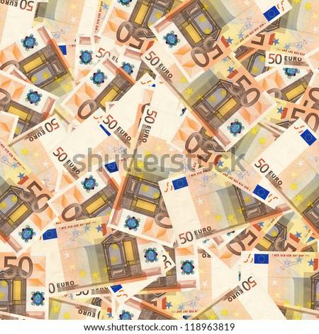 50 euro money seamless background - stock photo