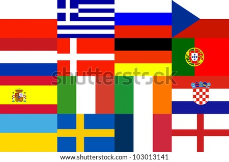16 EuroNation for background Year 2012 - stock photo