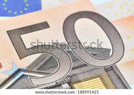 50 euros - stock photo