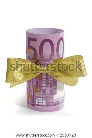500 euros as present - stock photo