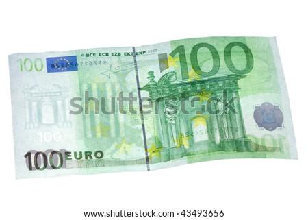 100 euros banknote isolated on white - stock photo
