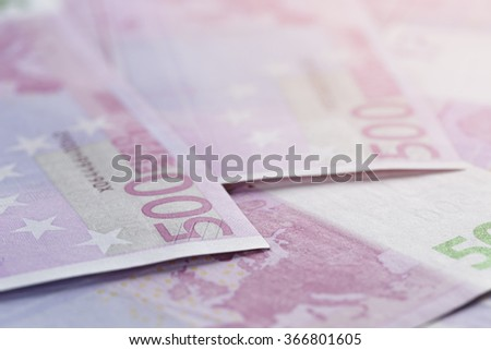500 euros bills as a background
