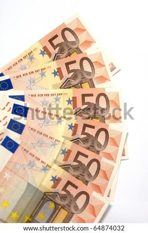 50 Euros notes - stock photo