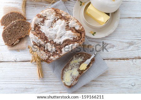Even baked bread - stock photo