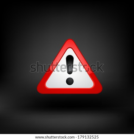 Exclamation Sign. Raster copy. - stock photo
