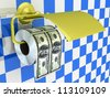Expensive toilet paper - stock photo