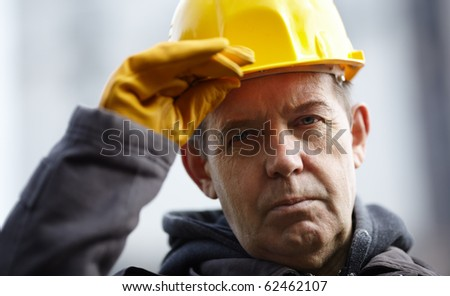 experienced builder - stock photo