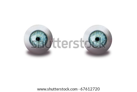 eyes isolated on white - stock photo