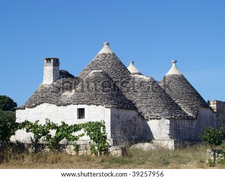 fairy house- so called trullo- Puglia region, south Italy - stock photo
