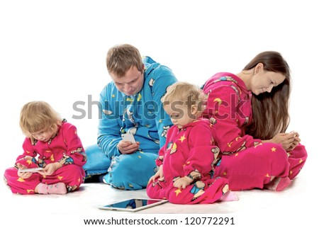 Family before a dream - stock photo