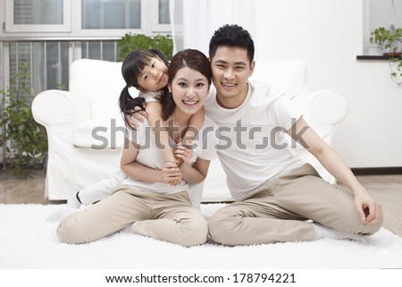 Family having fun together 	 - stock photo