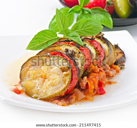 Famous French dish from Provence - Vegetable  Ratatouille. - stock photo