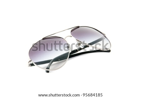 fancy aviator style sunglasses close up