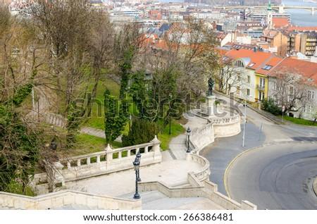 Fantastic Scenic view, Budapest, Hungary - stock photo