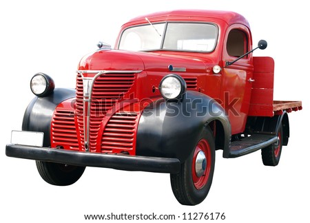 1942 Fargo Fl 1/2 ton isolated with clipping path - stock photo