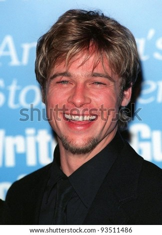 21FEB98:  Actor BRAD PITT at the 50th Annual Writers Guild Awards in Beverly Hills.