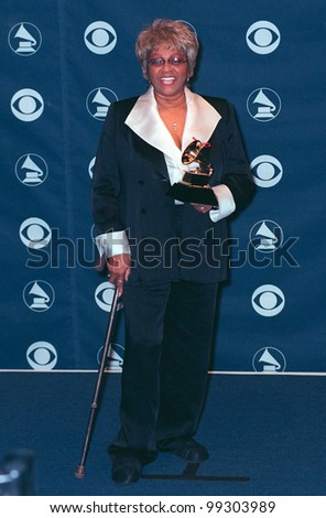 24FEB99: Singer CISSY HOUSTON (mother of Whitney Houston) at the 41st Annual Grammy Awards in Los Angeles.  Paul Smith / Featureflash - stock photo
