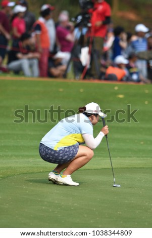 22-25 FEBRUARY 2018, Siam Country Club, Pattaya, Old Course, Thailand:Shanshan FENG of china in action during Honda LPGA