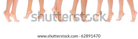 10 Feet on toes - stock photo