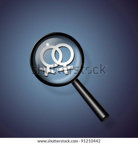 2 Female Symbols Linked Together - stock photo