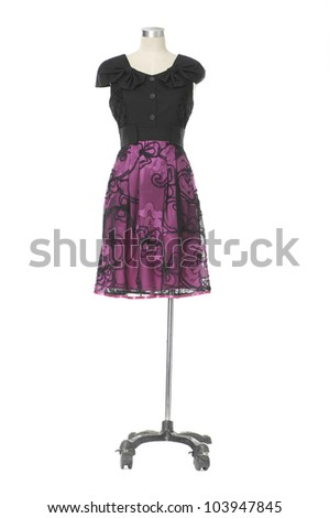 Females stylish dress isolated on a mannequin