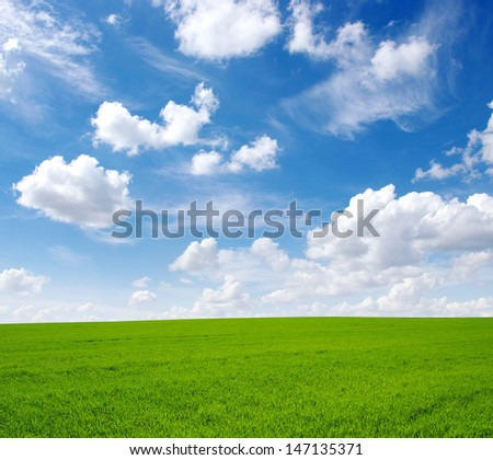 field and cloud - stock photo