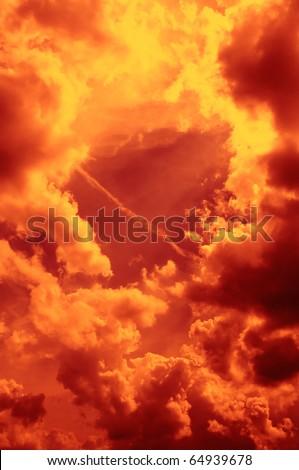 Fiery Sky - stock photo