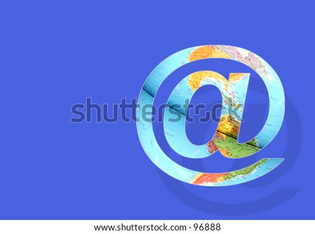 @ filled with a world map - stock photo