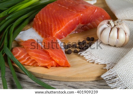 fillet of red fish, salmon, trout