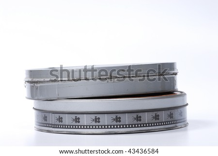 film canister isolated on white - stock photo