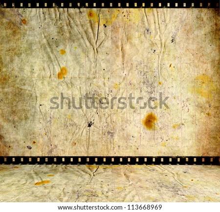 film strip background room - stock photo