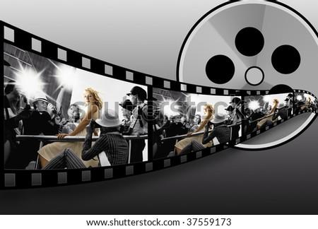 Filmstrip collage - stock photo