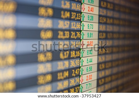 Financial data- stock exchange - stock photo