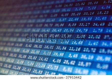 Financial data- stock exchange - stock photo