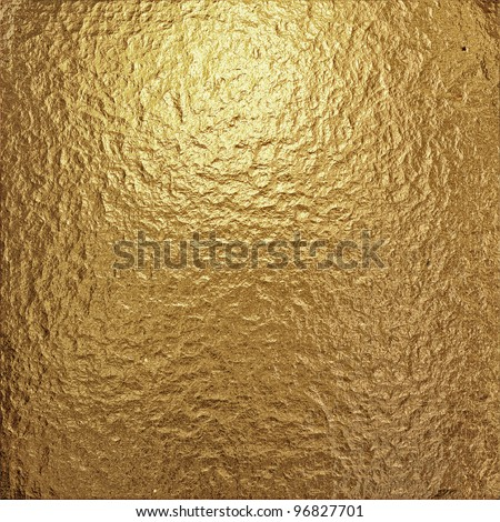 fine crinkled gold aluminium foil - stock photo