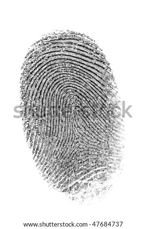 Finger print isolated on the white background.