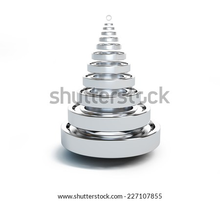 fir tree from bearing on a white background  - stock photo