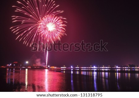 fire work. - stock photo