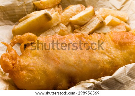 ?Fish and chips of the home U.K - stock photo