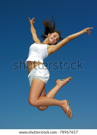 fitness in the sky - stock photo
