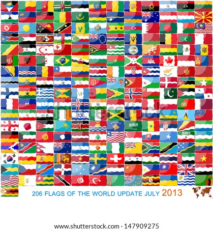 206 Flags of the WOLD update JULY 2013