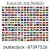 210 Flags of the World - updated on October 2011 - stock vector