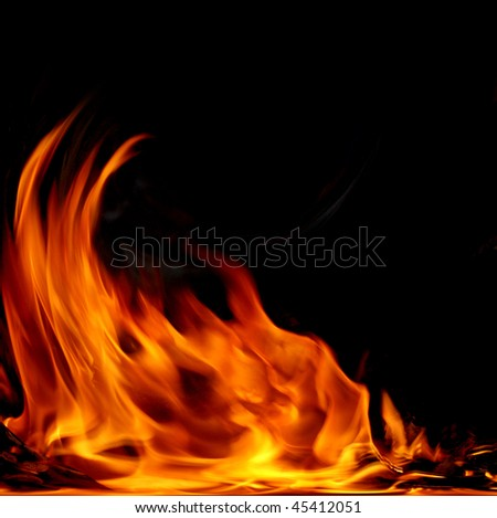 flame - stock photo