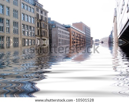 Flooded city