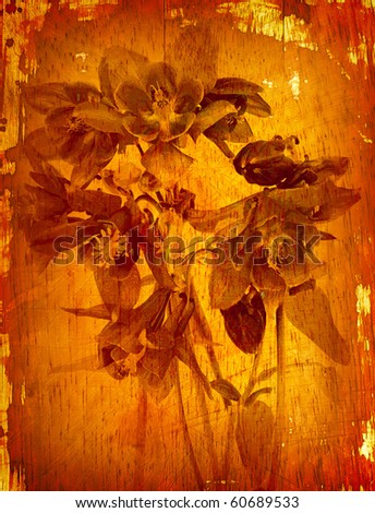 floral vintage background - stock photo