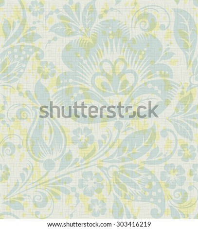 Floral vintage rustic seamless pattern. Background can be used for wallpaper, fills, web page, surface textures. - stock photo